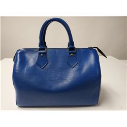 Louis Vuitton Speedy 25 100% Authentic Blue Leather