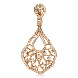 14k Rose Gold 0.57CTW Diamond Pendant, (I1/H)