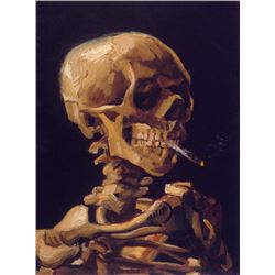 Van Gogh - Skull With A Burning Cigarette