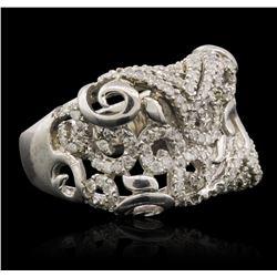 14KT White Gold 0.68 ctw Diamond Ring