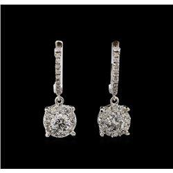 14KT White Gold 1.03 ctw Diamond Earrings