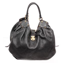 Louis Vuitton Black Monogram Leather Mahina XL Hobo Bag