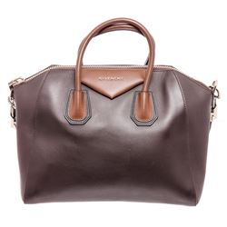 Givenchy Brown Leather Medium Antigona Satchel Shoulder Bag
