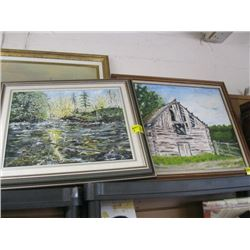 ASSORTMENT OF 4 PAINTINGS & PRINTS