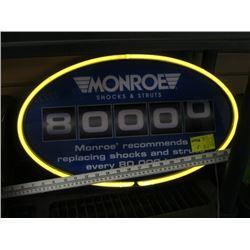 MONROE SHOCKS & STRUT LIGHTED SIGN