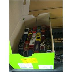 BOX OF SMALL CARS (MATCHBOX, HOTWHEELS) ETC.