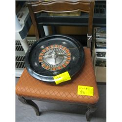 SEWING CHAIR, ROULETTE WHEEL (DAMAGED)