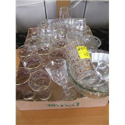 2 BOXES OF MISC GLASSWARE