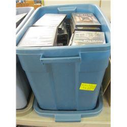 BIN OF DVDS