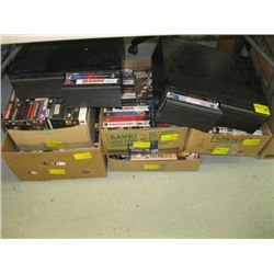 A LARGE LOT OF ASSORTED VHS TAPES