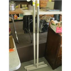 2 FLOOR TO CEILING SAFETY POLES