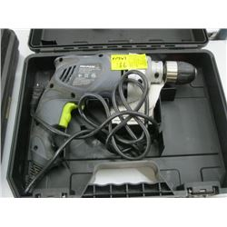 PRO-PULSE ELECTRIC DRILL WITH CASE, DEWALT CORDLESS DRILL WITH CHARGER (NO BATTERY)