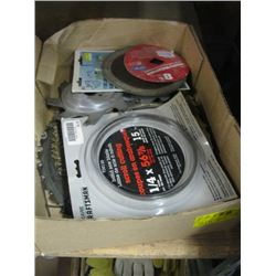 BOX OF ASSORTED SAW BLADES
