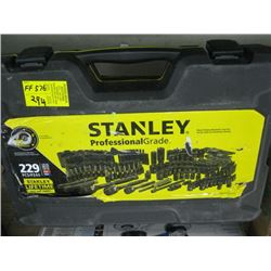 STANLEY CASED TOOL SET WITH SOCKETS (NOT COMPLETE)