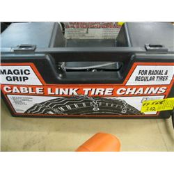 1 PAIR OF MAGIC GRIP TABLE LINK TIRE CHAINS