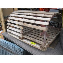 DECORATIVE WOODEN LOBSTER TRAP