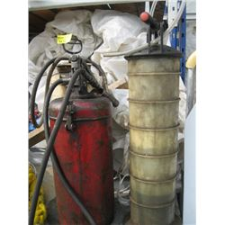 2 OIL PUMPS AND SPRAYER