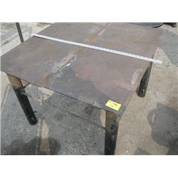 METAL WORK TABLE (APPROX 3' X 3')