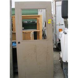 """1 - 79"""" X 36"""" METAL DOOR W/WINDOW INSERT (NO GLASS)"""