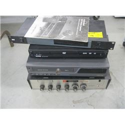 BOGEN SOLID STATE AMPLIFIER, VCR/DVD PLAYER, DIVERSITY RECEIVER