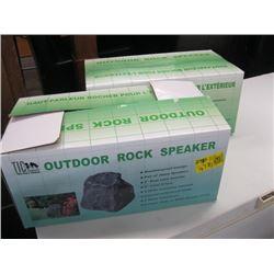 2 INBOX OUTDOOR ROCK SPEAKERS