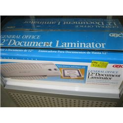 "1 - 12"" DOCUMENT LAMINATOR"