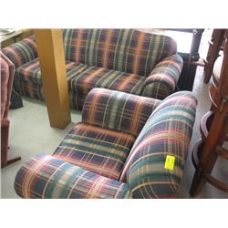 1 PLAID COUCH & CHAIR