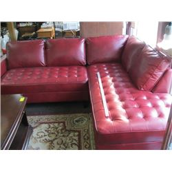 BEAUTIFUL RED SECTIONAL SOFA