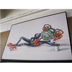 "FRAMED PAINTING OF ""COLORFUL FROG"""