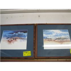 2 SMALL FRAMED PRINTS