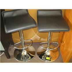 2 BLACK/CHROME STOOLS
