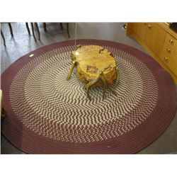 7' ROUND BRAIDED AREA CARPET