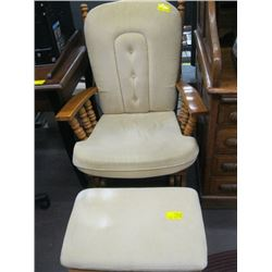 GLIDER ROCKER & FOOT STOOL