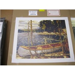 """FRAMED GROUP OF 7 PRINT OF """"THE CANOE"""" BY TOM THOMSON"""