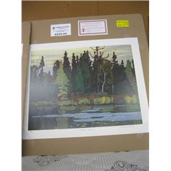 """GROUP OF 7 PRINT OF """"NORTHERN FOREST"""" BY LAWREN HARRIS"""