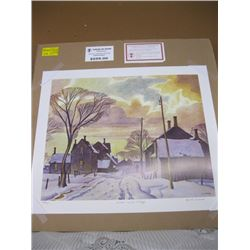 """GROUP OF 7 PRINT """"WINTER IN THE VILLAGE"""" BY A.J.CASSON"""