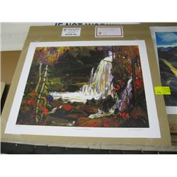 """GROUP OF 7 PRINT """"WOODLAND WATERFALLS"""" BY TOM TOMSON"""