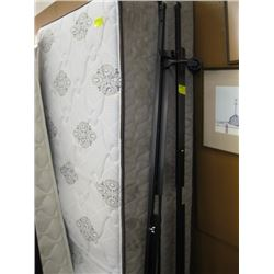 SINGLE BOXSPRING & MATTRESS WITH ROLLER FRAME