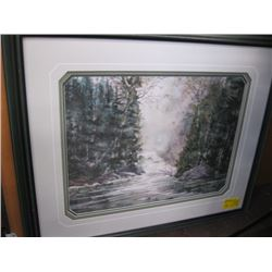 """GAMES BOARD, FRAMED PRINT """"OF THE STREAM & FOREST"""""""