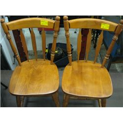 PR OF WOODEN CHAIRS