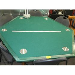 GREEN GAMES TABLE WITH EXTRA CUP HOLDERS