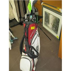 SET OF KING GOLF CLUBS WITH BAG, DRIVERS ETC.