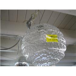 CLEAR GLASS LIGHT FIXTURE