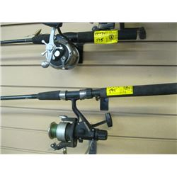 2 FISHING RODS & REELS