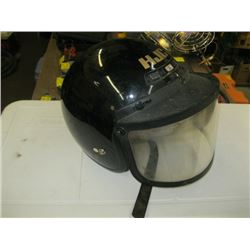BLACK HELMET WITH MASK WITH SCREEN