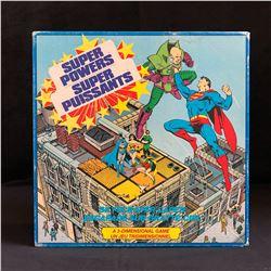 Vintage Super Powers The Justice League Of America Skyscraper Caper 3-Dimensional Game (1984)
