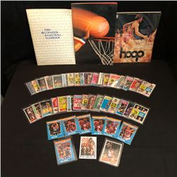VINTAGE BASKETBALL YEARBOOK/ TRADING CARDS LOT