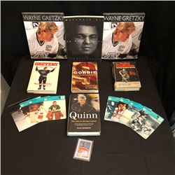 COLLECTIBLE HOCKEY/ BOXING BOOK LOT