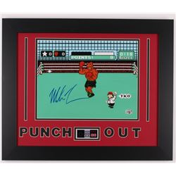 "Mike Tyson Signed ""Punch-Out!!"" 19.5x23 Framed Photo Display w/ Nintendo Controller Photo (Fiterman)"