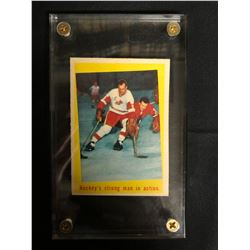 1959-60 TOPPS #48 GORDIE HOWE/JACK EVANS HOCKEY'S STRONG MAN IN ACTION